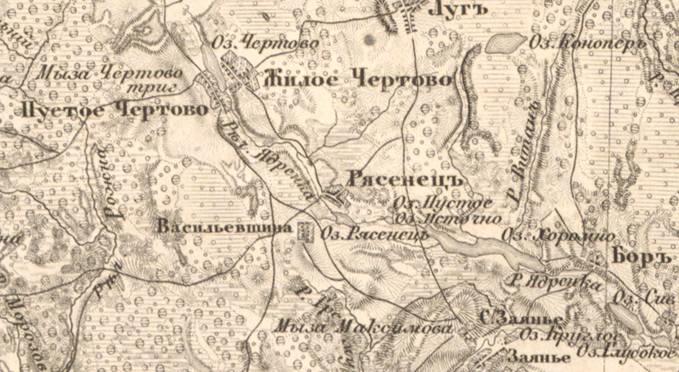 Гдовский Уезд Карта